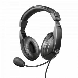 Стерео наушники с микрофоном Trust  21661 проводные черные QUASAR