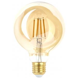 F-LED G95-7W-824-E27 gold ЭРА (филамент, шар зол, 7Вт, тепл, E27) (20/420)