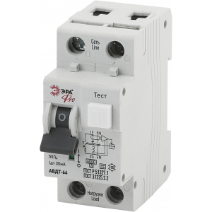 ЭРА Pro Автоматический выключатель дифференциального тока NO-901-84 АВДТ 64 C16 30мА 1P+N тип A (90/