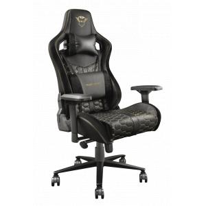 Игровое кресло компьютерное Trust  23784 черное кожзам GXT 712 Resto
