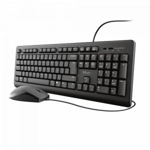 23994 Кл+мышь Trust Primo Комплект: проводные клавиатура и мышь (12/120)