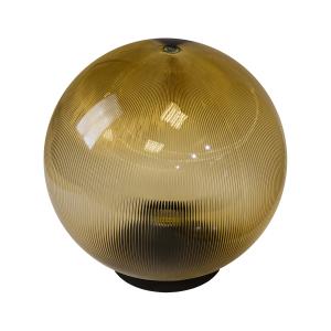 НТУ 02-60-203 ЭРА Светильник садово-парковый шар золотистый призма D200mm Е27 (6/90)