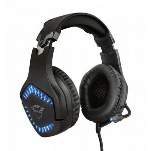 Стерео наушники с микрофоном Trust  23380 проводные игровые черные GXT460 VARZZ