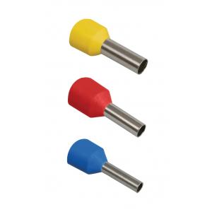 NO-570-07 ЭРА Наконечник-гильза Е1008 1мм2 с изолированным фланцем (желтый) (100 шт) (50/1000/16000)