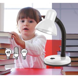 ЭРА наст.светильник N-120-E27-40W-W белый (20/180)
