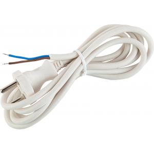 UX-2x0,75-3m -W ЭРА Шнур питания с вилкой б/з ПВС 2x0,75 3м белый (50/1500)