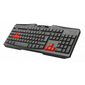 22115 Клав Trust Проводная игровая клавиатура ZIVA (20/240)
