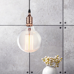 PL13 E27 - 4 RG Подсветка ЭРА Накладной, цоколь Е27, провод 1 м, цвет розовое золото (60/360)