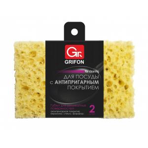 Grifon Губки д/тефлоновой посуды,  2 шт в  упак. 100 х 65 х 28 мм (20/2160)