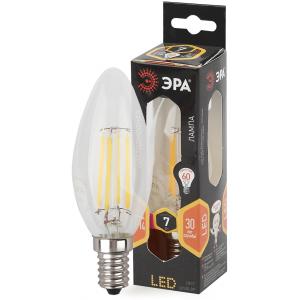 F-LED B35-7W-827-E14 ЭРА (филамент, свеча, 7Вт, тепл, E14) (10/100/2800)