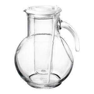 Кувшин Bormioli Rocco KUFRA 135729 стеклянный с белой крышкой 2150 мл 1 штука