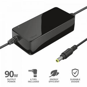 22142 Trust Primo Универсальное зарядное устройство для ноутбуков мощностью 90 Вт (15/240)