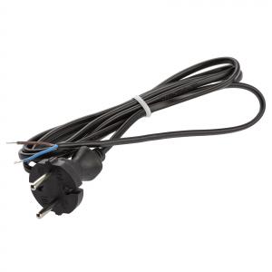 Шнур для бра ЭРА  UX-ШВВП-2x0,75-1,8m-B 1,8м ШВВП 2x0,75мм2 черный