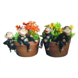 Декоративная подвеска GREEN APPLE  GRHP4-23-1 Обезьяна 9*6*15.6 см