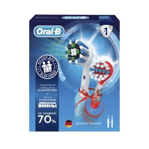 ORAL-B Э/щетка Pro 500/D16.513.U + Vitality Kids D12.513K StarWars (3/252)