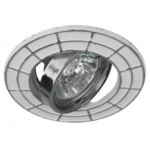ST7A CH/WH Светильник ЭРА штампованный поворотный MR16,12V/220V, 50W белый/хром (100/2100)