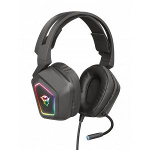 Стерео наушники с микрофоном Trust  23191 проводные игровые черные GXT 450 BLIZZ