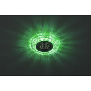 DK LD3 SL/WH+GR Светильник ЭРА декор cо светодиодной подсветкой( белый+зеленый), прозрачный (50/1400