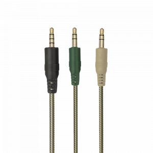 Стерео наушники с микрофоном Trust  20865 проводные игровые зеленые Carus GXT 322C