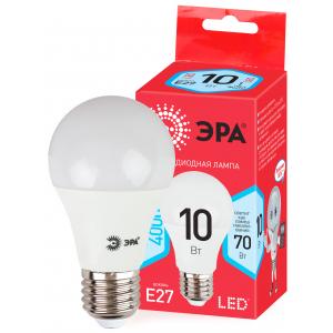 ECO LED A60-10W-840-E27 ЭРА (диод, груша, 10Вт, нейтр, E27) (10/100/2000)