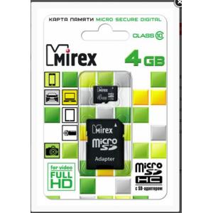Mirex Micro SDHC 08 Gb Class 10 + adapter (25/6250)