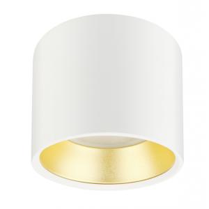 OL8 GX53 WH/GD Подсветка ЭРА Накладной под лампу Gx53, алюминий, цвет белый+золото (40/800)