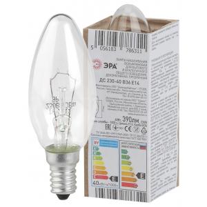 ЭРА ДС (B36) свечка 40Вт 230В Е14 в гофре (100/6000)
