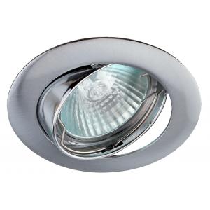 Встраиваемый светильник литой ЭРА  KL1A SN/1 поворотный, MR16, 12V, 50W, сатин никель
