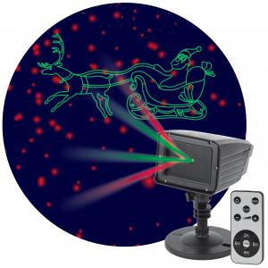 ENIOP-02 ЭРА Проектор Laser Дед Мороз мультирежим 2 цвета, 220V, IP44 (12/180)