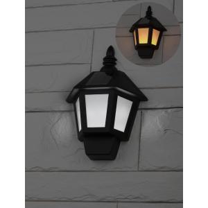 ERAFS08-36 ЭРА Фасадный светильник Фонарь,2 режима(огонь,холодный свет),на солн. бат.,40LED,7lm (12/