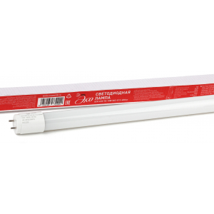 ECO LED T8-10W-865-G13-600mm ЭРА (диод,трубка стекл,10Вт,хол,непов. G13) (25/1225)