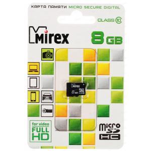 Mirex Micro SDHC 08 Gb Class 10 без адаптера (25/6250)