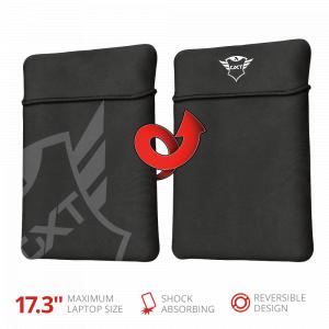 Чехол для ноутбука Trust  23245 двусторонний 17 дюймов тканевый черный Lido