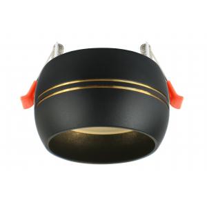 KL81 BK/GD Светильник ЭРА алюминиевый GX53, черный/золото (40/960)