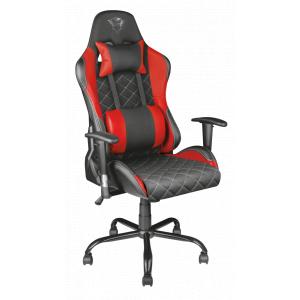Игровое кресло компьютерное Trust  22692 красное кожзам ткань