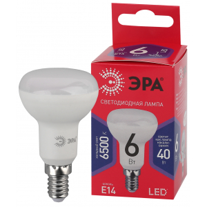 LED R50-6W-865-E14 R ЭРА (диод, рефлектор, 6Вт, хол, E14) (10/100/3600)