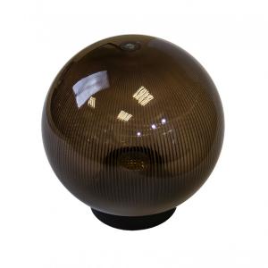 НТУ 02-60-255 ЭРА Светильник садово-парковый шар дымчатый призма D250mm Е27 (6/48)