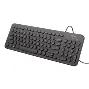 23408 Клав Trust Muto бесшумная компьютерная клавиатура (24/288)