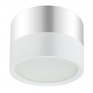 OL7 GX53 WH/CH Подсветка ЭРА Накладной под лампу Gx53, алюминий, цвет белый+хром (40/1200)