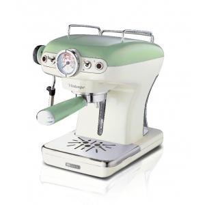 1389/14 Ariete Vintage Кофеварка эспрессо. Цвет зеленый. Мощность 850 Вт, 15 бар, ретро дизайн (24)