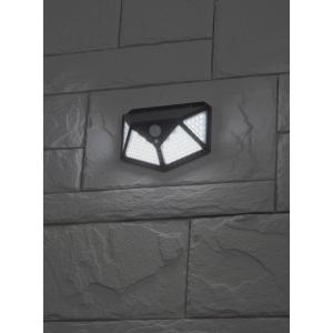 ERAFS100-04 ЭРА Фасадный светильник с датч. движ. и 4-мя плоск. освещ., на солн. бат.100 LED,300 lm