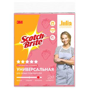 Салфетка Scotch-Brite  GPW-STR универсальная с ароматом клубники 3 шт