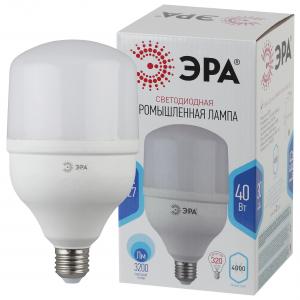 LED POWER T120-40W-4000-E27 ЭРА диод, колок, 40Вт, нейтр, E27 (20/200)