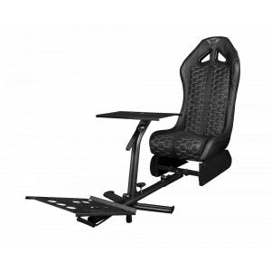 Игровое кресло Trust  23612 кожзам черное с подставкой для рулевого колеса и педалей GXT 1155 RALLY