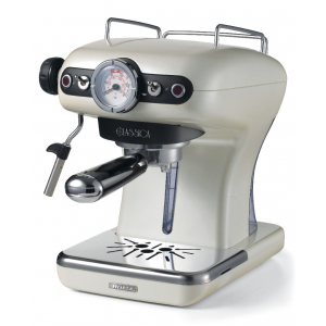 1389/17 Ariete Classic Кофеварка эспрессо. Цвет жемчужный. Мощность 900 Вт., 15 бар, ретро дизайн (4