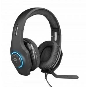 Стерео наушники с микрофоном Trust  23138 проводные игровые черные GXT 455 Torus