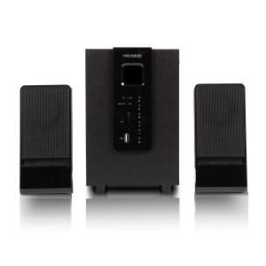 Колонки Microlab M-100 Bluetooth 2.1 USB, SD, FM дерево, чёрные  (10W RMS) (8/32)