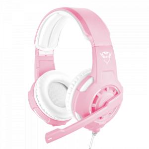 Стерео наушники с микрофоном Trust  23203 проводные игровые розовые GXT310P RADIUS