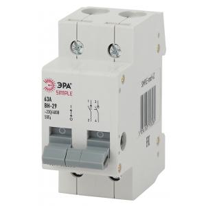 SIMPLE-mod-59 ЭРА SIMPLE Выключатель нагрузки 2P 16А ВН-29 (6/90/1800)