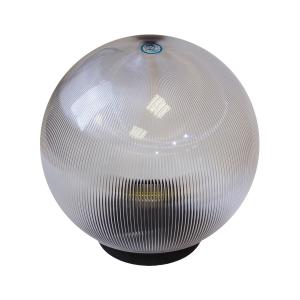 НТУ 02-60-202 ЭРА Светильник садово-парковый шар прозрачный призма D200mm Е27 (6/90)